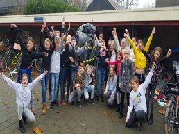 Tweede plaats voor leerlingen van De Akker bij Textiel Race Noord-Veluwe