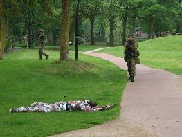 Militaire oefening in Putten
