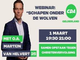 Webinar 'schapen onder de wolven' over Christenvervolging