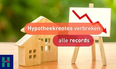 Nieuws de Hypotheker: Hypotheekrentes verbreken alle laagterecords!